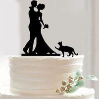 ducha estilo clásico al por mayor-Familia acrílico Estilo clásico de la torta de boda Insertar Pareja partido de la torta de cumpleaños inserciones aniversario nupcial decoraciones de la ducha