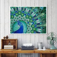 Wholesale art paintings peacocks resale online - Special Shaped Diamond Painting Butterfly peacock owl flower DIY D Partial Drill Cross Stitch Kits Crystal Rhinestone Arts