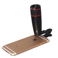 appareil photo à zoom optique achat en gros de-12x zoom optique télescope téléobjectif pour téléphone portable pince pour objectif universel sur iPhone pour téléphones mobiles Android