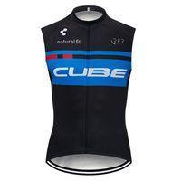 neuer würfel radfahren großhandel-CUBE Team Radfahren Ärmelloses Trikot Weste neue Sommer Mountainbike atmungsaktiv schnell trocknend Männer Reithemden 72533
