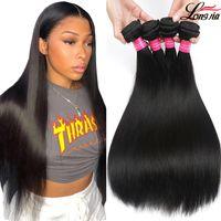 atkı teli 22 inç toptan satış-Brezilyalı Düz Saç Demetleri Brezilyalı bakire insan Saç düz atkı 2 veya 4 renk İşlenmemiş düz İnsan saç uzantıları satın alabilirsiniz