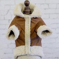 nouveaux modèles de gilet achat en gros de-Casual chat chien bas manteau doux hiver garder chaud vêtements pour animaux de compagnie avec conception de poche chiot gilet nouvelle arrivée 14jc BB