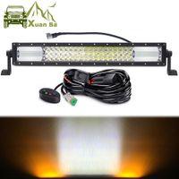 Wholesale 12v drop light for sale - Group buy Xuanba Inch W Amber White Led Driving Light Bar For Car V V x4 Offroad Trucks ATV WD SUV Combo Fog Lamp Work Light Drop Shipping