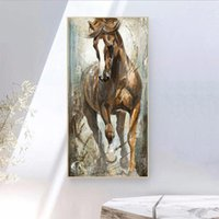 Wholesale vertical paintings for sale - Group buy Vertical Canvas Horse Painting Cuadros Paintings on The Wall Home Decor Canvas Posters Prints Pictures Art No Frame