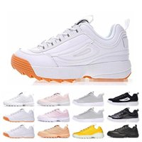 Wholesale file sizes for sale - Group buy 2019 New Disruptors II File Casual Shoes White Sawtooth Men Running Shoes Women Luxury Designer Sport Sneakers Mens Trainers Size