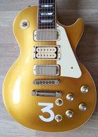 ingrosso chitarra elettrica su misura-Custom Shop Pete Townshend Chitarra elettrica The Who Numero 3 Goldtop Gold 3 pickup 2006 Deluxe # 9 China Made Guitar