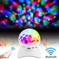 controlador de escenario dj al por mayor-Deslumbrante LED Etapa de luz Controlador RGB LED Magic Ball Bluetooth Altavoz Rotación de la lámpara para KTV Party DJ Disco House Club