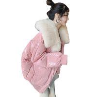 настоящие меховые шорты оптовых-90%White Duck Down Jacket Winter Women 2018 Chaqueta Mujer Coat With Natural Real  Fur Collar Short Parka Female Abrigo Mujer