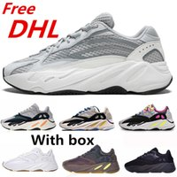 Wholesale canvas shoes dhl free for sale - Group buy Free DHL Wave Runner Mauve Inertia Running Shoes With Box Kanye West Designer Shoes Men Women V2 Static Sports Seankers Size