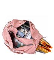 Wholesale pink travel bags for sale - Group buy DHL Lu Yoga Duffel Bag Teenagers School Sports Hiking Camping Outdoor Travel Bags Duffel Bag
