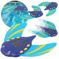ingrosso giocattoli di pesce per i bambini-Acqua Power Devil Fish PC Toy Modello Stingray Underwater Aliante Bambini Giocattoli da spiaggia Estate Nuoto Vendita calda 15yx C1