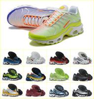 gs markası toptan satış-2019 Tn Artı GS Erkek Koşu Spor Ayakkabı Hava Tn Üçlü Beyaz Siyah Marka Tasarımcı Chaussures Artı Tn Se Lüks koşu Rahat Sneakers