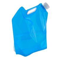 складной мешок руки оптовых-5L  Grade PE Collapsible Foldable Water Bag Camping bag Storage Hand Lifting Hiking Survival Bottle Blue Color