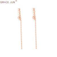 ingrosso perle faux lunghe perline-GRAZIA JUN 2019 Catenina a catena con perline lunghe su orecchini senza piercing per donne