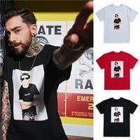 roseau rouge achat en gros de-T-shirt Suprene Fashion 09SS LOU REED TEE Souterrain Velvet Band Caractère à manches courtes PHOTO en coton à la taille Couleur noir blanc Rouge