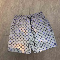 ingrosso modello di pantaloni di spiaggia-Pantaloncini da bagno casual da uomo di alta moda della collezione di moda da uomo di pizzo da uomo in cotone con motivo a serpente