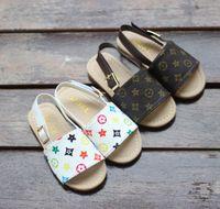 herbst sandalen großhandel-21019 neue Kinderschuhe Sommer und Herbst Baby Strand Kinder Sandalen und Hausschuhe koreanische Mode einfache Kinder Prinzessin Schuhe