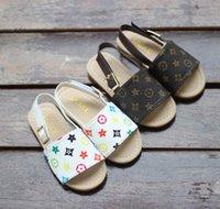 sandalia eva bebe al por mayor-21019 nuevos zapatos para niños verano y otoño sandalias y pantuflas para niños de playa para bebés Zapatos de princesa para niños simples de moda coreana