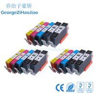 impresoras cartuchos de tinta al por mayor-3SETS + 3BK 564XL cartucho de tinta hp564 hp564xl compatible para la impresora hp Photosmart 5510 5511 5514 C309