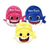 lenços da escola venda por atacado-A trouxa do tubarão do bebê do luxuoso para o velo do bebê 1-4Yrs caçoa o saco de escola