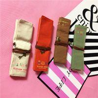 estojos de corda venda por atacado-Brand new 18 * 23 cm Grande Capacidade Lápis Caso Rope Rope Pen Bag Lápis Caixa de Lona Bolsa Pouch 4 cor
