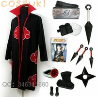 Wholesale itachi uchiha full cosplay online - costume suits Newest Stock Naruto Uchiha Itachi Cosplay Costume Suits Perfect Custom For you Can t be customized