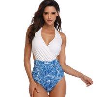 maillot bain femme toptan satış-2019 Marka Tek Parça Mayo Kadın Mayo Maillot De Bain Femme Sigortalı Bodysuits Yüzme Mayo Beachwear Monokini