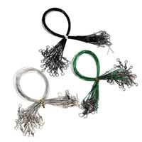 feijões verdes alaranjados venda por atacado-72 pçs / lote Resistência À Abrasão Linha De Pesca Conector Rolamento de Aço Inoxidável Spinner Wire Trace Lures Três Tamanhos