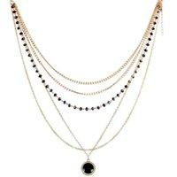 patrones para collares al por mayor-Nuevo patrón de múltiples capas para mujer collar de cadena Element Geometric Simple serpiente cadena de collar de hueso colgantes para las mujeres