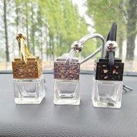 şişe boş toptan satış-8 ML Asılı Araba Parfüm Hollow Şişe Parfüm Difüzör Şişe Araba Hava Freshner Cam Uçucu Yağ Şişesi Araba Süslemeleri AAA1613