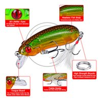 Wholesale bass feather fishing lures for sale - Group buy 9pcs Plastic Fishing Lure cm quot g oz Crankbait Colors Bass Bait with Feather Hook Tackle