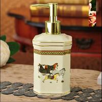 Luxury Ceramic Soap Dispenser Hand Liquid Soap Dispensers Liquid Soap Dspenser Bathroom Set S03