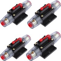 circuit breakers 2021 - 4Pcs Waterproof 12 24V Reset Circuit Breaker Audio Safety Switch Fuse Holder