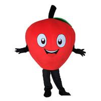 ingrosso vendita mela rossa-2019 Sconto vendita di fabbrica Little red Apple Mascot Costume Cartoon Character Costume Adult Fancy Dress Costumi di carnevale di Halloween