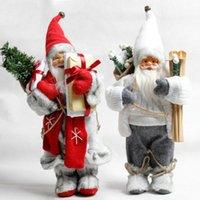 Wholesale big santa claus doll for sale - Group buy 2pcs set Big Size Christmas Dolls Santa Claus Toys Xmas Figurines Christmas Gift for Kid Red Xmas Tree Ornament