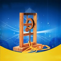 Wholesale rope wood toy for sale - Group buy Three Dimensional Toy Space Solution Rope Wood Brain Teaser Puzzles For Kids Adult IQ Mind Toys New tm D1
