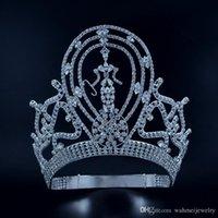 gewinner schmuck großhandel-Festzug Kronen Diademe Lager Einstellbare Miss Festzug Gewinner Königin Braut Hochzeit Prinzessin Haarschmuck Für Party Prom Zeigt Kopfschmuck Mo134
