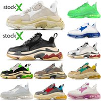 Wholesale casual shoes men s for sale - Group buy DHL Fashion Paris FW Triple s Sneakers for Men Women Black Red White Green Casual Dad Shoes Tennis Increasing Sneakers