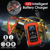 Wholesale 12v 5a battery resale online - Eu us Plug v a Lcd Pulse Repair Battery Charger For Car Motorcycle Agm Gel Wet Lead Acid Overheat Protection Restore Drained J190427
