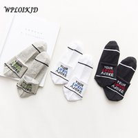 Wholesale ankle socks animal resale online - WPLOIKJD Harajuku Streetwear Hip Hop Ankle Socks Word Novel Skateboard Art Socks Men Japan Unisex Calcetines Hombre Divertidos