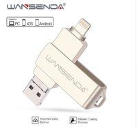 mémoire flash usb 128 achat en gros de-Clé USB en métal 128 Go OTG Pen Drive 32 Go 64 Go USB 3.0 disque flash pour iPhone X / 8 Plus / 8/7 Plus clé USB