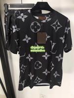 parçalar yüksek bel şortları toptan satış-High End Kadınlar Mektup Baskı İki Adet Pantolon Rahat Üstleri T-Shirt Tee + Elastik Bel Fermuar Şort Aktif Gömlek Casual Gömlek Set