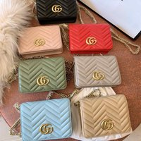 bags for women toptan satış-Yüksek kaliteli tasarımcı çanta cüzdan kadın Renkli Zincir Omuz Çantaları Çapraz Vücut Çanta Akşam Çanta Cüzdan ücretsiz kargo