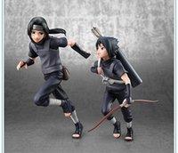 itachi oyuncakları toptan satış-2 adet / takım 18 cm Naruto Uchiha Sasuke Uchiha itachi action figure PVC oyuncak koleksiyonu bebek anime karikatür modeli için arkadaş hediye