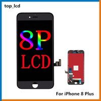 manzana a través al por mayor-100% original LCD para iPhone 8+ iPhone 8 Plus Pantalla LCD Digitalizador táctil Pantalla completa con marco Reemplazo de ensamblaje completo a través de DHL gratis