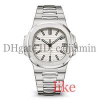 водостойкие серебряные часы оптовых-дизайнерские часы мужские автоматические роскошные часы 5711 серебряный ремешок супер светящиеся нержавеющие мужские механические наручные часы Montre de Luxe водонепроницаемые