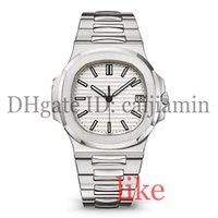 relógios de luxo super venda por atacado-Relógios de grife mens relógio de luxo automático 5711 pulseira de prata super luminosa inoxidável mens mecânica montre de luxe relógio de pulso à prova d 'água