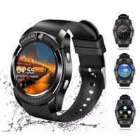 ingrosso vigilanza del tocco della donna-V8 Smart Watch Bluetooth touch screen Android impermeabile Sport Uomo Donna Smartwatched con fotocamera SIM card