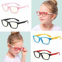 ingrosso gli occhiali flessibili montano i bambini-Occhiali per bambini in silicone leggero blu anti-moda Occhiali per bambini in morbida montatura per occhiali Occhiali classici per bambini con montatura flessibile LJJT1011