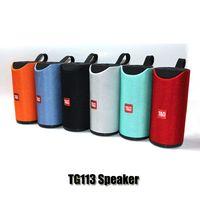 drahtloser bluetooth lauter basslautsprecher groihandel-TG113 Lautsprecher drahtlose Bluetooth-Lautsprecher Subwoofers freihändiger Anruf Profil Stereo Bass Unterstützungs-TF-USB-Karten AUX Line In Hallo-Fi laut DHL